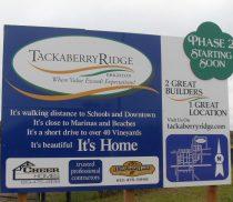 Tackaberry Ridge sign