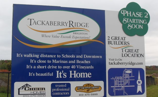 Tackaberry Ridge Sign